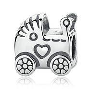 """Шарм бусина №1070 """"Детская коляска"""" для браслета Пандора PANDORA (Серебро)"""