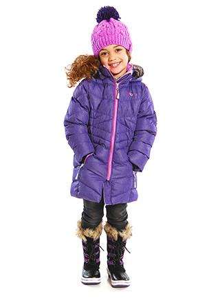 Пальто для девочки 1252 M F16 Purple Haze NANO