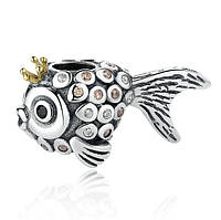 """Шарм бусина №1046 """"Золотая рыбка"""" для браслета Пандора PANDORA (Серебро)"""