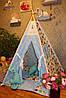 """Детский игровой домик, вигвам, палатка, шатер, шалаш """"Коты в голубых сердцах"""""""
