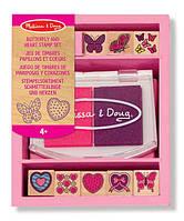 Melissa & Doug Мини-набор штампы марок сердца и бабочки для девочек от 4+лет