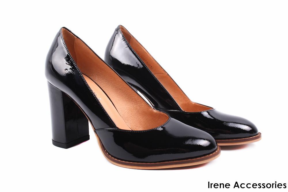 a07e3982f Туфли женские Badura лаковая кожа черные (стильные, каблук, удобная  колодка, Польша)