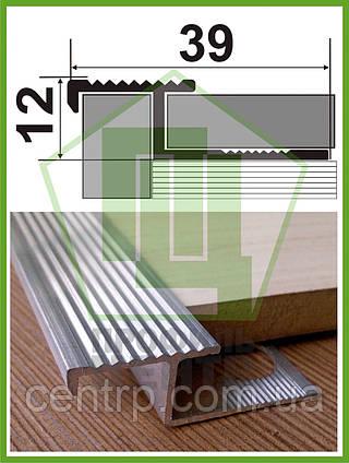 АПZR. Алюминевый плиточный Z-профиль под плитку, усиленный. Без покрытия. Длина 3,0м.