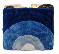 """Коврик для ванной комнаты синий """"3DCoin"""" 50*60, 6823"""