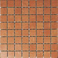 Мозаика из керамогранита Zeus MQAX27 коричневая