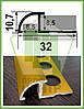 ОАП. Угол для плитки наезжающий, анодированный. Длина 2,5м.