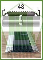 Плоский противоскользящий профиль с одной резиновой вставкой УЛ 150
