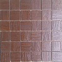 Облицовочная мозаика из керамогранита темно коричневая Zeus MQCXP8