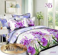 """Двуспальный комплект постельного белья """"Орхидеи""""."""