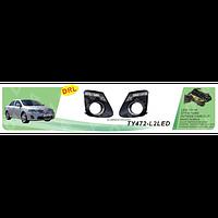 Фары доп.модель Toyota Corolla 2011/TY-472-L2LED-W/накладки доп/дневного света DRL/эл.проводка