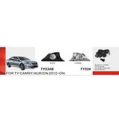 Фары доп.модель Toyota Camry 50 2012-/TY-534-W/эл.проводка