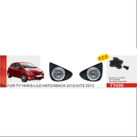 Фары доп.модель Toyota Yaris Hatchback L/LE 2012-/TY-496-W/эл.проводка