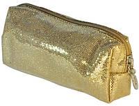 Косметичка светло-золотая 15,5х6,5х4см