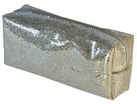 Косметичка серебристая 15,5х6,5х4см