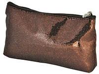 Косметичка коричневая 19,5х11см