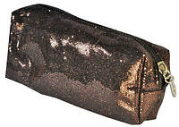 Косметичка коричневая 16х9х4,5см