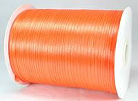 Лента атласная 3мм оранжевая 796м