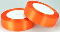 Лента атласная 2,5см 5шт ярко-оранжевый рулон 23м