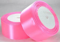 Лента атласная 3,8см 5 шт ультра-розовая рулон 23м