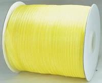 Лента органза 7мм желтая 450м