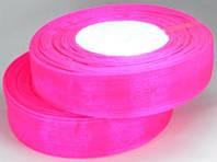 Лента органза 2,5см ультра-розовый от 3 шт