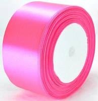Лента атласная 4,8см 4шт ультра-розовый