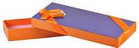 Коробка оранжевая 23х9,5х3,5см
