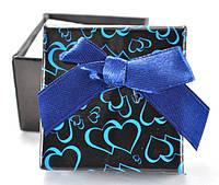 Коробка   5х5см сердца черная