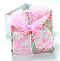 Коробка   5х5см цветы зеленая