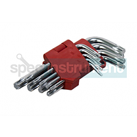 Набор Г-образных ключей TORX Т10-Т50 INTERTOOL HT-0607 пригодится во многих работах, благодаря разнообразию размеров. В