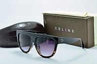 Солнцезащитные очки Celine черные с леопардовой оправой