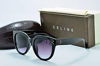 Солнцезащитные очки Celine черные круглые
