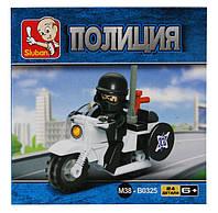 """Конструктор пластиковый """"Полицейский мотоциклист"""" 24дет.М38-В0325"""