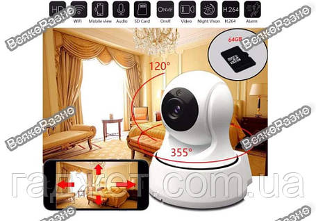 Wi-Fi Ip-Камера / IP Camera / Камера видео наблюдения WiFi/ Беспроводная поворотная ip камера, фото 2