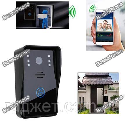 Видео домофон WiFi звонок на телефон планшет IP камера видеозвонок, фото 2