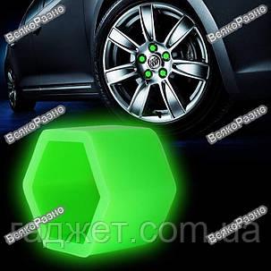Колпачки силиконовые флуоресцентные на болты автомобильных дисков 20 штук , фото 2
