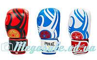 Перчатки боксерские Elast 6162 на липучке, 3 цвета: кожа, 10-12 унций