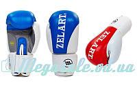 Перчатки боксерские Zel 3627 на липучке, 2 цвета: кожа, 10-12 унций