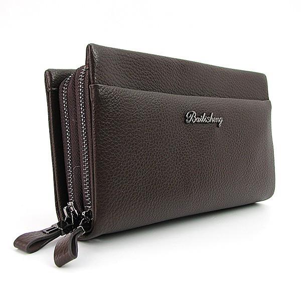 c3ef6e96e777 Клатч мужской Bailisheng кожаный коричневый толстый: продажа, цена в ...