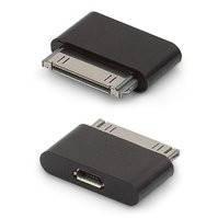 Адаптер micro-USB to 30 pin для мобильных телефонов Apple iPhone 2G, iPhone 3G, iPhone 3GS, iPhone 4, iPhone 4S; планшетов Apple iPad, iPad 2, iPad 3;