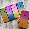 Силиконовый чехол омбре для iPhone 7