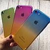Силиконовый чехол омбре для iPhone 7, фото 2