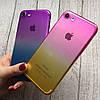 Силиконовый чехол омбре для iPhone 7, фото 3