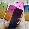 Силиконовый чехол омбре для iPhone 7, фото 5