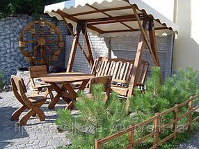 Качели садовые из массива дерева, фото 2