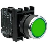 Кнопка зеленая без фиксации B100DY