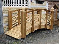 Мост деревянный из массива дерева