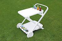 Столик пластиковый на колесиках