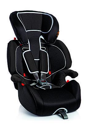 Дитяче авто сидіння Giotto, Група 1/2/3 (09-36кг) забарвлення -чорний, фото 2
