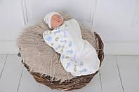 """Пеленка-кокон для новорожденного на молнии Half """"Графитти"""" от 0 до 3 мес, фото 1"""